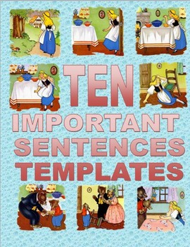 Ten Important Sentences Blank Templates