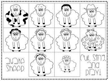 Ten In The Bed - Countdown Song, Sheep Glyph, Math and Literacy, Spring