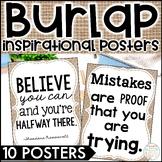 Ten Inspirational Burlap Posters