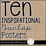 Ten Inspirational Burlap Posters