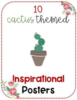 Ten Inspirational Posters CACTUS THEMED