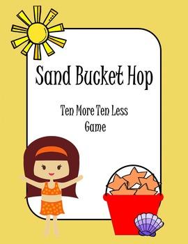 Ten Less Ten More Sand Bucket Hop Math Game