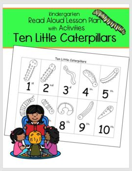 Kindergarten Worksheet Ten Little Caterpillars on Editor Pambazuka