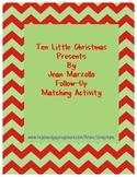Ten Little Christmas Presents Matching Activity