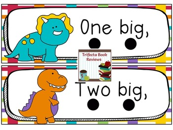 Ten Little Dinosaurs ~ Antonyms, Rhyme and Early Literacy Activities