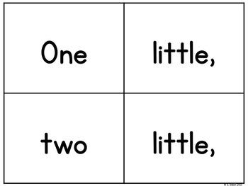 Pocket Chart Poetry - Ten Little Elves