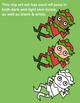 Ten Little Elves (Female) Clipart