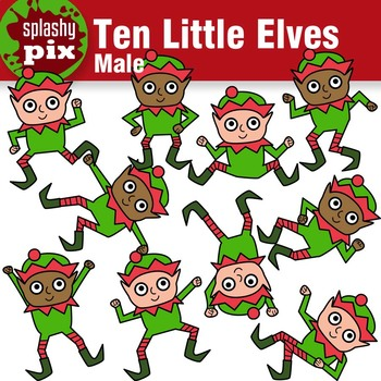 Ten Little Elves (Male) Clipart