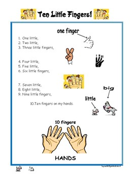 Ten Little Fingers - Song / Nursery Rhyme for Kids