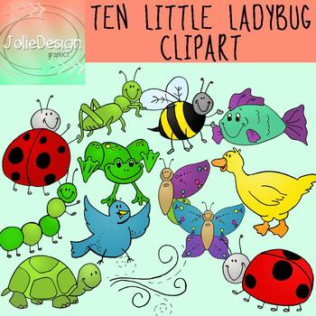 Ten Little Ladybugs Clipart