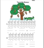 Ten Little Monkeys- Picture subtraction and sing along