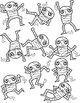 Ten Little Mummies Clipart