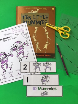 Ten Little Mummies a Counting Printable