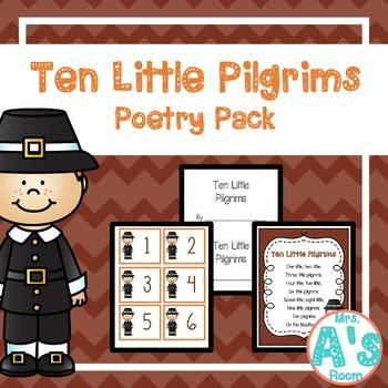 Ten Little Pilgrims Poetry Pack