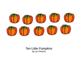 Ten Little Pumpkins Book by Lyn Phoenix