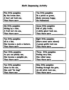 Ten Little Pumpkins Creating a Halloween Math Poem Activity