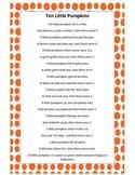 Ten Little Pumpkins Finger Play