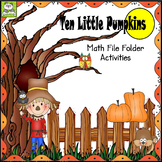 Ten Little Pumpkins Math File Folder Activity