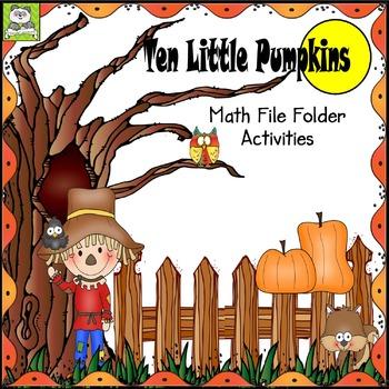 Ten Little Pumpkins Math File Folder Activity