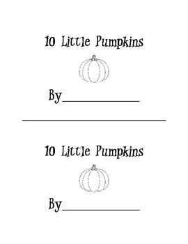 Ten Little Pumpkins Mini Book