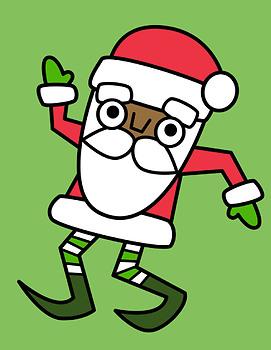 Ten Little Santas Clipart