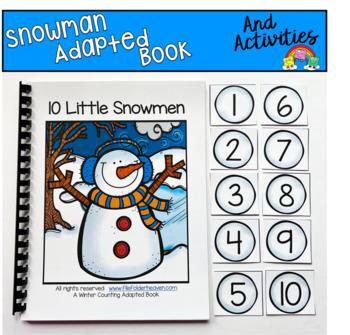 """Winter Adapted Book--""""Ten Little Snowmen"""""""