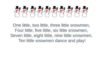 Ten Little Snowmen Literacy and Math Packet