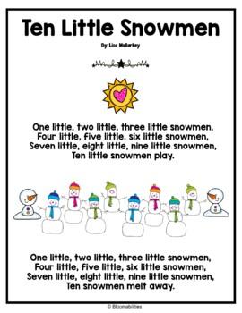 Ten Little Snowmen Poem
