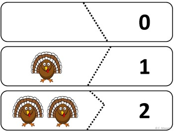 10 Little Turkey Birds Songs, Number Puzzles and 10 Props for Thanksgiving