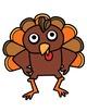 Ten Little Turkeys Clipart