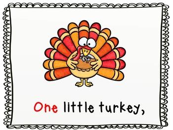 Ten Little Turkeys Big Book and Emergent Readers