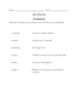 Ten Mile Day Reading Packet (Scott Foresman Reading Street)