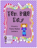 Ten Mile Day Weekly Take Home Letters (Scott Foresman Reading Street)