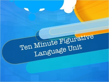 Ten Minute Figurative Language: Daily Lessons and Quizzes-CCSS Aligned