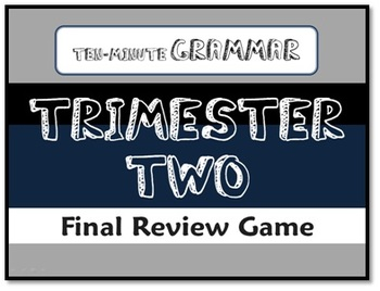 Ten-Minute Grammar T-Two Final Review - Fun PowerPoint Game Show