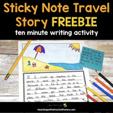 Ten Minute Writing Activity - Sticky Note Travel Story