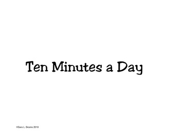 Ten Minutes a Day Writing Homework Booklet Primary Printable