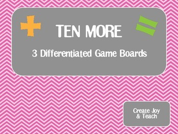 Ten More Differentiated Game FREEBIE
