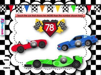 Ten More Or Less Racing Smart Board Game FREEBIE