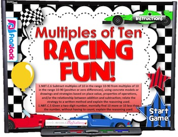 Ten More Or Less Racing Smart Board Game FREEBIE