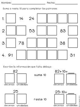Spanish Ten More, Ten Less