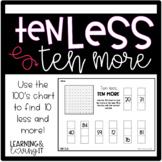 Ten Less, Ten More with Hundreds Chart