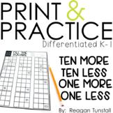 Print and Practice Ten More Ten Less