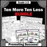 Ten More Ten Less Activities BUNDLE, 1st Grade Math Center Games