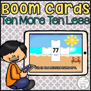 Ten More Ten Less Boom Cards