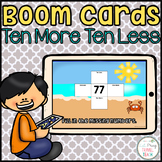 Ten More Ten Less Boom Cards
