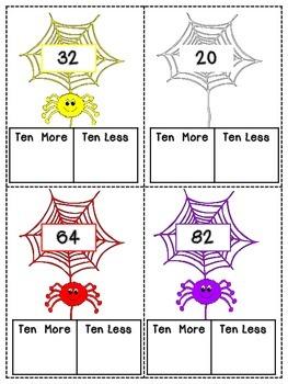 Ten More Ten Less Caught in a Web Activity