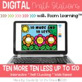 Ten More Ten Less | Digital Task Cards | Boom Cards™