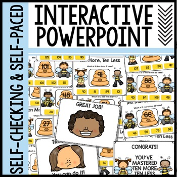 Ten More Ten Less Interactive Powerpoint