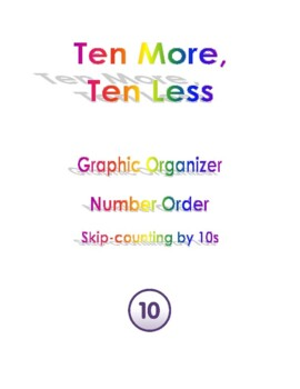 Ten More Ten Less Graphic Organizer Number Order